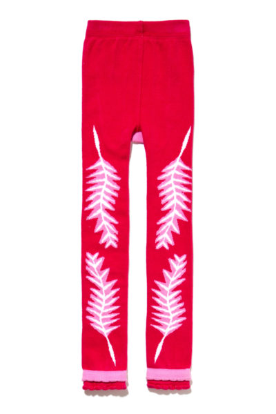 340.1- Holiday Feather Footless Tights