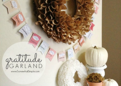 Click through for free printables to make this lovely garland!