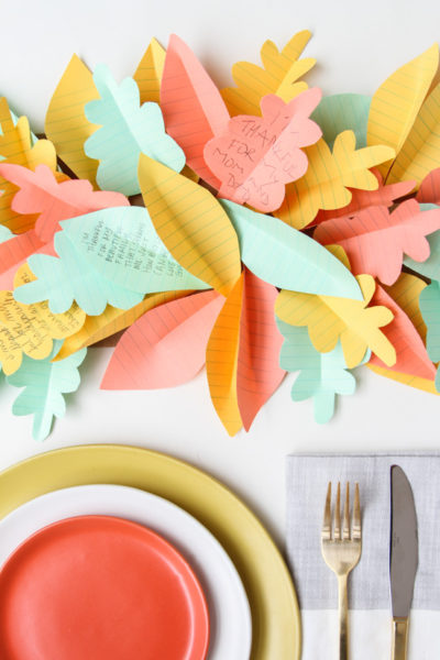 A wonderfully attractive way to add thanks to the dinner table!