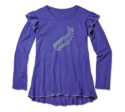 purple-feather-tee